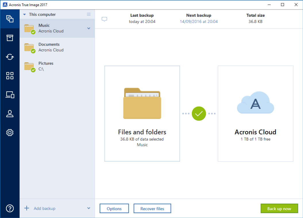 Acronis True Image Screen shot